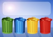 Garbage bins for recycle — Stock Photo
