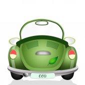 Ecological Green Car — Stock Photo