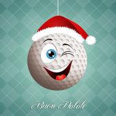 Funny golf ball for Christmas — Stock Photo