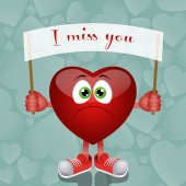 Funny heart with message — Stock Photo