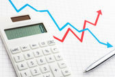 Calculating, graphing and planning. — Stock Photo