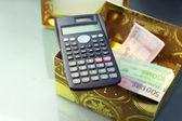 Calculator and Euros — Foto de Stock
