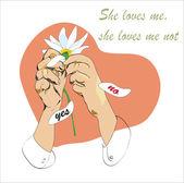 She Loves Me Not — Stock Vector