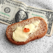 Dollar and Caviar — Foto Stock