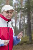 Frau, jogging — Stockfoto