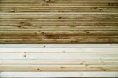Closeup of Stacked woods, Building materials. — Foto Stock