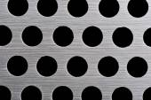 Detail texture of aluminum plate with hole — Stock Photo