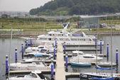 GIMPO, KOREA - July 5, 2014: Ara Marina Yachts dock in Gyeongin — Stock Photo