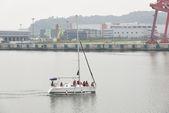 GIMPO, KOREA - July 5, 2014: Tour yacht on the Gyeongin Ara Wate — Stock Photo
