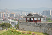 SUWON, KOREA - MAY 02, 2014: North-West Pavilion of Suwon Hwaseo — Φωτογραφία Αρχείου