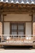 Front view of korean traditional architecture — Stock Photo
