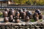 Korean traditional crocks flatform — Stock Photo