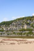 Steep cliff with river in Andong — Stock Photo