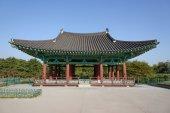 GYEONGJU, KOREA - OCTOBER 18, 2014: Architecture at Donggung and — Stock Photo