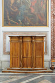 ROME, ITALY - JANUARY 22, 2010: Wooden Confessional — Zdjęcie stockowe