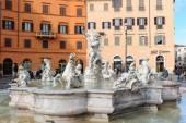 ROME, ITALY - JANUARY 27, 2010: Fontana del Nettuno — Stock Photo