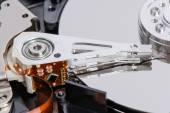 Closeup of disassembled Hard disk drive. — Stock Photo