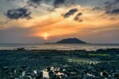 Sunset with Biyangdo island — ストック写真