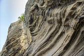 Sedimentary rock at Yongmeori coast in Jeju island — Stock Photo