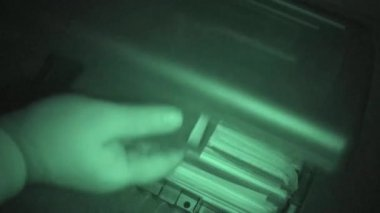 File Cabinet, Burglary, Nightshot — Stock Video