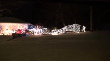 Christmas Lights, Xmas, Holiday Spirit — Stock Video