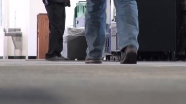 Passengers, Luggage, Suitcases, Baggage, Terminals — Stock Video