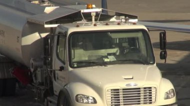 Fuel Trucks, Gasoline, Jet Fuel, Diesel — Stock Video