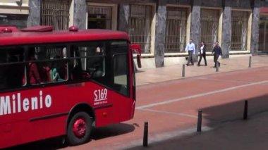 Autobusy, silnice, mhd, hromadné dopravy — Stock video