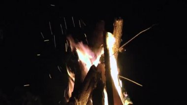 Fire, Sparks, Burning Embers — Stock Video