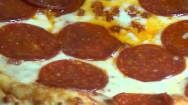 Pizza, Fast Foods, Junk Foods, Italian Cuisines — Stock Video