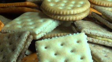 Crackers, Crisps, Snacks, Food — Stock Video