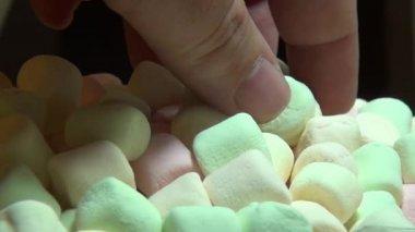 Marshmallows, Sugary Treats, Candy — Stock Video