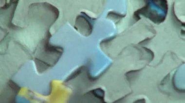 Puzzles, Puzzle Pieces, Children's Toys — Stock Video