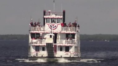 Paddle Steamers, Paddle Boats, River Boats — Stock Video