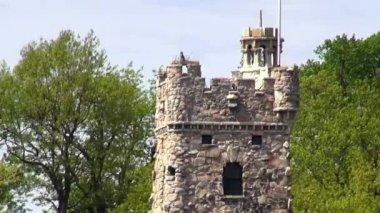 Torre del castello, vecchi edifici, medievale — Video Stock