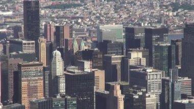 City Aerial, Urban, Neighborhoods, District — Stock Video