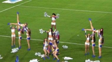 Cheerleading Squad, Pyramid, Gymnastics — Stock Video