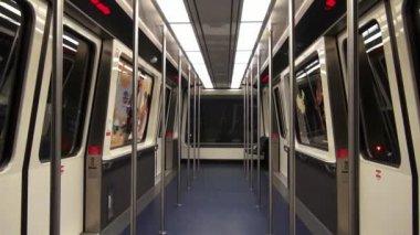 Pociągu, tramwaju, metra kabina, masowego tranzytu — Wideo stockowe