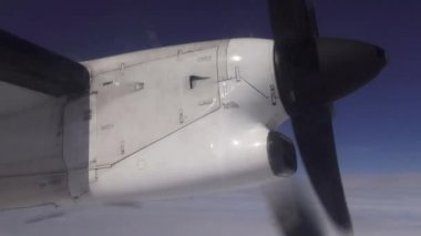 Airplane Propeller, Engines, Aircraft, Flight — Stock Video