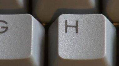 Computer Keyboard, Keys, Typing — Stock Video