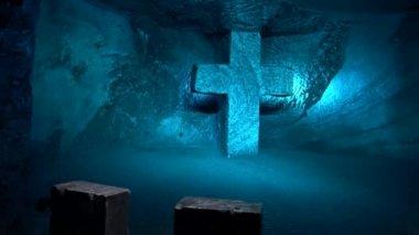 Cross, Christian, Statues, Religion — Stock Video