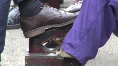 Shoe Shine, Footwear — Stock Video