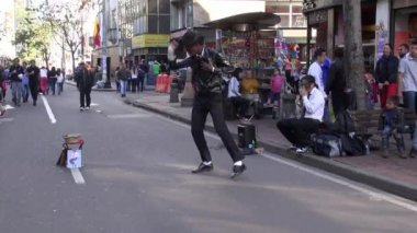 Street Performer, Talent — Stock Video