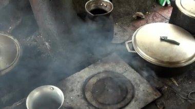 Cozinha fogão — Vídeo stock