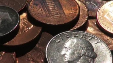 Coins, Money, Currency — Stock Video