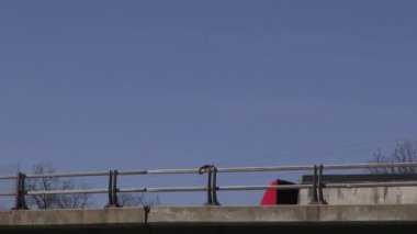 Trucks, Shipping, Bridges, Overpasses — Stock Video