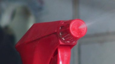 Spray Can, Spray Bottle, Chemicals — Stockvideo