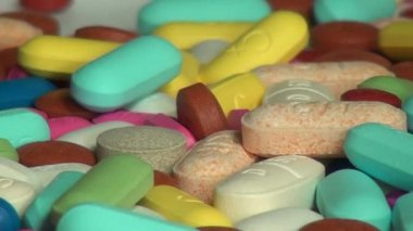 Pills, Medicine, Drugs, Health — Stock Video
