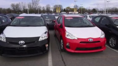 Toyota Cars, New Cars, Japanese Cars — Stock Video