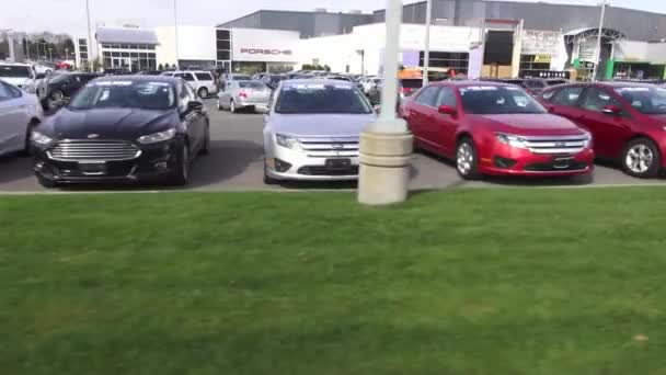 Cars, Dealership, For Sale, New and Used — Vídeo de stock
